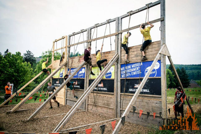 Tough Mudder Obstacle Balls to the Wall