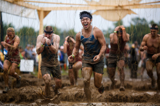 Tough Mudder: Before getting the finisher headband, you have to survive the electroshocks at Electroshock Therapy