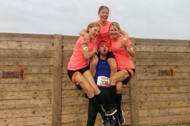 Everybody helps each other at Tough Mudder, especially if you are female