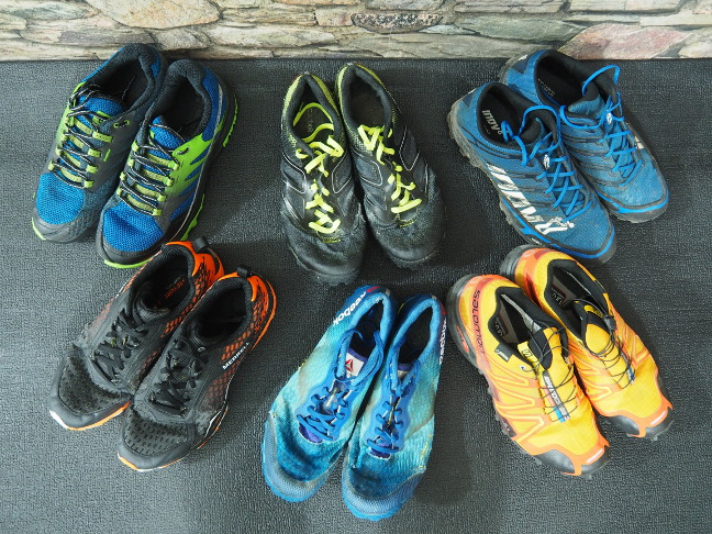 Different Tough Mudder shoes