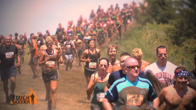 Tough Mudder: the participants break sweat during the run