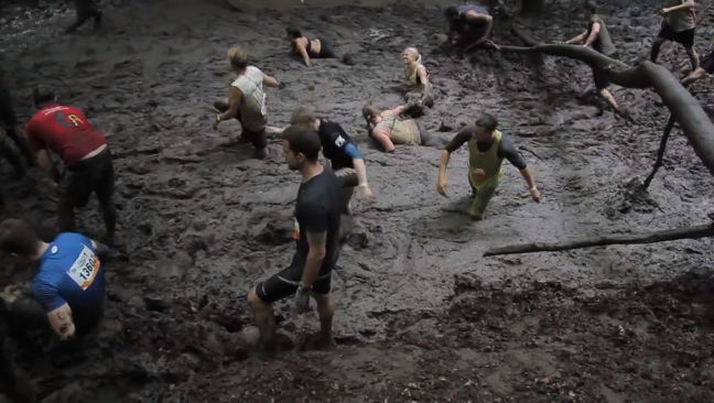 Tough Mudder features a tough course where a constant running speed is impossible
